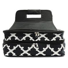 Morraccan Tile Casserole Dish Carrier for Holiday Party Entertaining Black