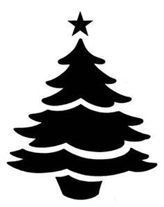 Трафарет новый год елка