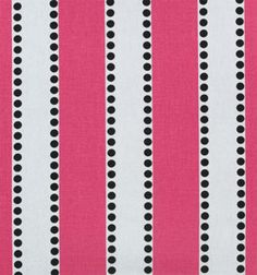 Lulu Candy Pink / Black | Online Discount Drapery Fabrics and Upholstery Fabric Superstore!