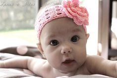 Baby Head Band ~ free pattern Done with thread and pony tail holders