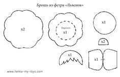 MK broche feito de feltro | Sonhos das Crianças