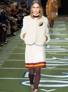 70's college football girlfriends at Tommy Hilfiger