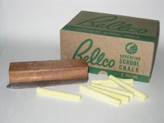 Chalk and blackboard duster. I remember the box!