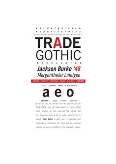 Trade Gothic by Shane Legaspi, via Behance
