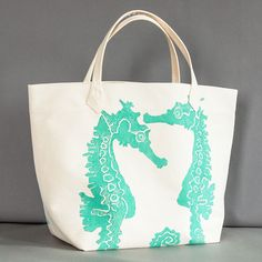 so summery! {Seahorse Canvas Bag by Dermond Peterson}