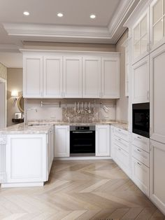 Luxury Kitchen - Regardless of whether you're planning for a move to another house or you essentially need to a kitchen redesign, these astounding kitchen Minimalist But Luxurious Kitchen Design thoughts will prove to be useful. Luxury Kitchen Design, Best Kitchen Designs, Interior Design Kitchen, Elegant Kitchens, Luxury Kitchens, Home Kitchens, Home Decor Kitchen, Rustic Kitchen, Kitchen Ideas