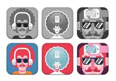Icons for an app soon to be released on Behance