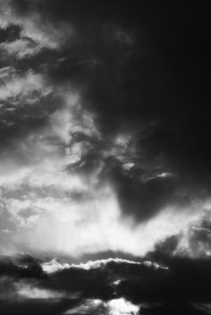 Black and white clouds :)