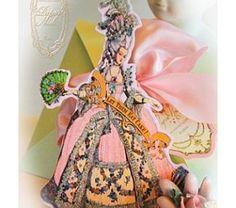 Marie Antoinette Let  Us Eat Cake Hand Die Cut Invitations
