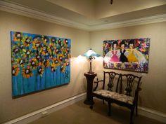 artwork by Tony La Salle, lamp by Glass Light Studios