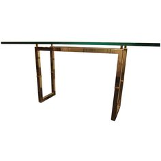 Iron and brass console by Peter Ghyczy