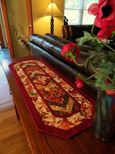 Handcrafted Fall Table Runner $60.00