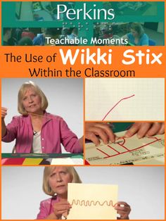 In this 4 minute video, Kate Fraser demonstrates how Wikki Stix can be used to create tactile graphics or 3 dimensional constructions. She demonstrates how Wikki Stix can be used with students with Low Vision as well as students who are blind.