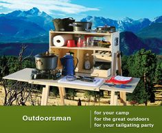 Camping and cooking just started look appealing - With the Outdoorsman, it all fits inside