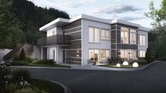 3d Visualization, Construction, Mansions, House Styles, Illustration, Home Decor, Building, Decoration Home, Manor Houses