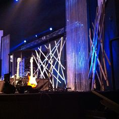Cool portable stage art at Mountain Lake Church