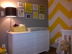 Chevron Nursery - a perfect match to our muslin {Christina} Baby Bedroom, Baby Boy Rooms, Nursery Room, Kids Bedroom, Nursery Themes, Nursery Ideas, Yellow Nursery, Baby Sister, Everything Baby