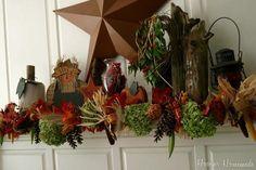 DIY Autumn : DIY Fall Mantel & Garland Inspired