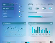 """Check out this @Behance project: """"Blurred Flat User Interface"""" https://www.behance.net/gallery/21914037/Blurred-Flat-User-Interface"""