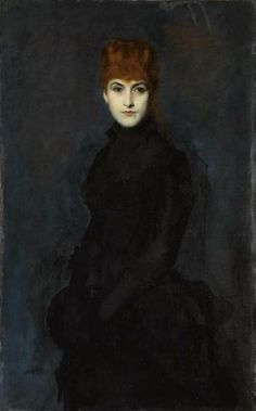 """The Portrait of Madame Kessler"" by Jean-Jacques Henner, 1886"