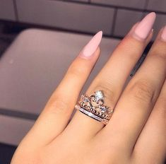Morganite engagement ring rose gold Unique diamond Cluster ring Vintage wedding Mini stone Bridal set Jewelry Anniversary Gift for women - Fine Jewelry Ideas Cute Rings, Unique Rings, Beautiful Rings, 15 Rings, Vintage Engagement Rings, Vintage Rings, Crown Engagement Ring, Cute Jewelry, Jewelry Accessories