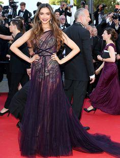 DEEPIKA PADUKONE at Cannes 2017 in Marchesa