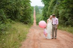 A Prince Edward Island Rustic Pink and White Wedding