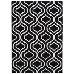 Nourison Linear Black White Rug (8' x 11') | Overstock.com Shopping - The Best Deals on 7x9 - 10x14 Rugs