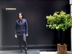 Jesse Garza at Ann Demeulemeester Showroom in Paris