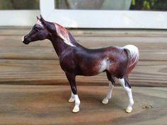 Breyer G1 Stablemate Arabian Stallion to Sabino/Rabicano Custom Model Horse