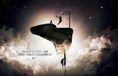 #Nike #Ad - Climb to the Top by Daryl Bailey, via #Behance