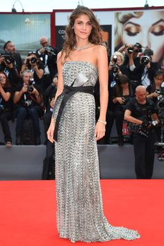 Venice Film Festival 2015 Red Carpet - Elisa Sednaoui walks the red carpet wearing Armani Privé