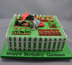 garden cake ideas best garden cake images on birthdays birthday ideas idea of birthday cake for women cake decorating ideas garden theme Cake Decorating Tips, Cookie Decorating, Allotment Cake, Retirement Party Cakes, Housewarming Cake, Vegetable Cake, Dad Cake, Fondant, Garden Cakes