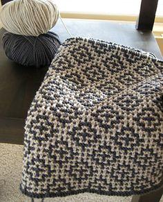 Ravelry: Welsh Blanket knitting pattern by Debbie Bliss. I want to find a similar crochet pattern.