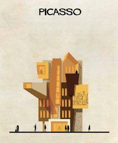 PICASSO - Revisité par FEDERICO BABINA - Architecte et Illustrateur -