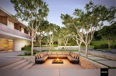 DIY Fire Pit Ideas - Want to build your own fire pit? We have compiled a list of 50 DIY fire pit ideas that you can build for your own home. Sunken Patio, Sunken Fire Pits, Cheap Fire Pit, Diy Fire Pit, Garden Fire Pit, Fire Pit Backyard, Backyard Patio Designs, Backyard Landscaping, Landscaping Ideas
