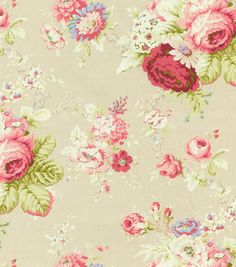 Home Decor 8''x 8'' Swatch Fabric-Waverly Sanctuary Rose Linen