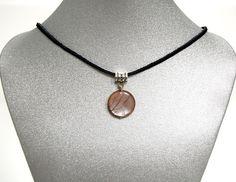 Natural Gemstone Sunstone Pendant Necklace Black Cord 17' Made in USA Gift #Handmade #Pendant #Chakra #Fengshui #Love #Healing #Protection #GoodLuckStone #Semiprecious #Stone