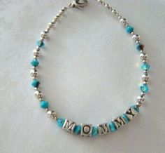 Sterling Silver Mommy Bracelet  Sterling by SalemStreetBeadery, $32.00
