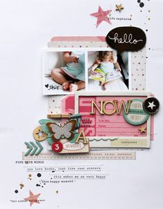 #Papercraft #scrapbook #layout. Now by MelBlackburn at @studio_calico