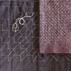 salt + still ( Sashiko Embroidery, Japanese Embroidery, Embroidery Patterns, Boro, Visible Mending, Cosplay Diy, Japanese Textiles, Sewing Stitches, Diy Sewing Projects