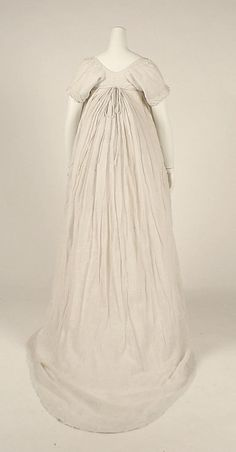 Dress Date: 1798 Culture: British Medium: cotton