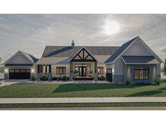 050H-0418: Mountain House Plan with Large Deck Lake House Plans, Best House Plans, Texas House Plans, Unique House Plans, Cabin Plans, Modern Farmhouse Plans, Farmhouse Style Homes, Contemporary Farmhouse Exterior, Texas Farmhouse