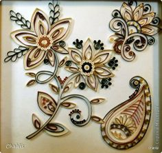 Painting mural drawing ornaments Paper Quilling Indian band Velvet Paper Beads Photo 2