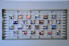 Photo Display Using Old Crib Spring photo display, crib spring