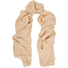 Valentino Embellished cashmere-blend scarf (6 605 ZAR) ❤ liked on Polyvore featuring accessories, scarves, beige, sequin scarves, valentino scarves and sequin shawl