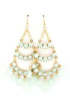Pale Mint Chandelier Earrings