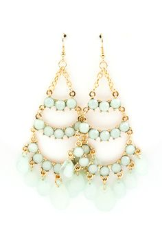 Pale Mint Chandelier Earrings. I used to have a similar pair and I loved them so