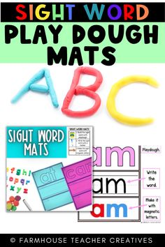 This is a play dough sight word mat. Laminate or place inside a page protector. Students use play dough to make the word. With these sight word playdough mats, kindergarten students will learn new words, improve their fine motor skills and expand vocabulary. Fry Words, Fry Sight Words, Sight Word Practice, Word Play, Magnetic Letters, Page Protectors, Sight Word Activities, Play Dough, Fine Motor Skills