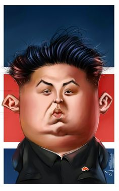 kim jong un. Cartoon Faces, Meme Faces, Funny Faces, Cartoon Characters, Funny Caricatures, Celebrity Caricatures, Cinema Tv, Caricature Drawing, Famous Cartoons